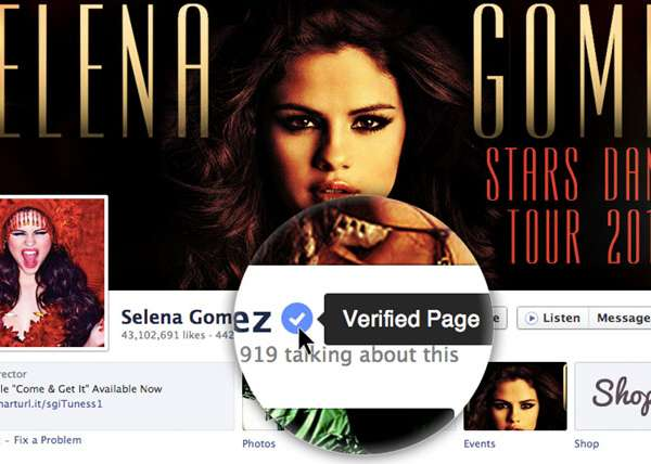 Verified Page Facebook